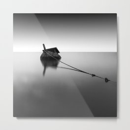 Shipwreck Black and White Photographic Art Print Metal Print