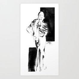 Hellessy Fashion Sketch Art Print