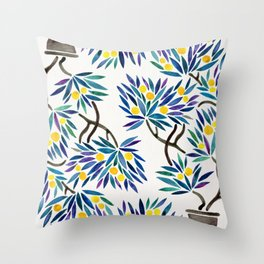 Bonsai Fruit Tree – Lemons Throw Pillow
