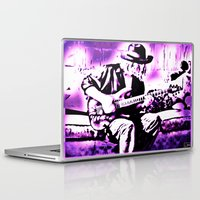 rock n roll Laptop & iPad Skins featuring Rock N' Roll Gypsy by Jussi Lovewell