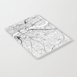 London White Map Notebook