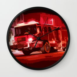 Fire Truck Wall Clock