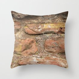 Excavated Roman Wall in England Throw Pillow