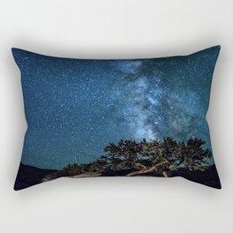 Deep Blue Milky Way Landscape Rectangular Pillow