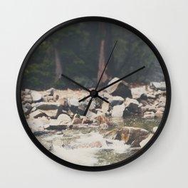 Lake Tahoe mountain river photograph Wall Clock