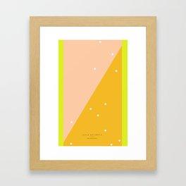 Peach - 5s/5 Framed Art Print