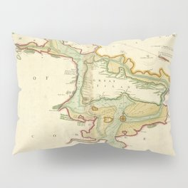 Vintage Map of Cork Harbor Ireland (1702) Pillow Sham