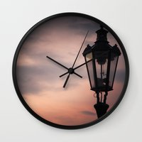 lantern Wall Clocks featuring Victorian Lantern by Maria Heyens