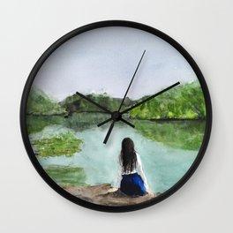 girl and nature Wall Clock