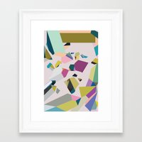 crystals Framed Art Prints featuring Crystals by Leandro Pita