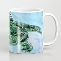 tatoo Mugs featuring Tatoo Sea Turtle by PepperDsArt