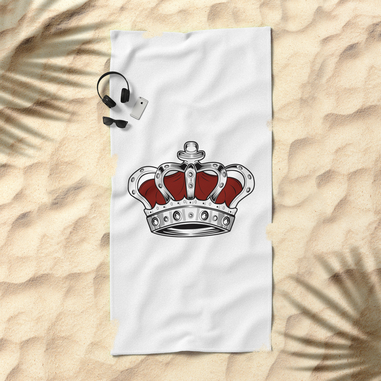 Crown - Red Beach Towel