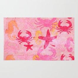 Sea World Vintage Pink Rug