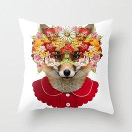 foxface Throw Pillow