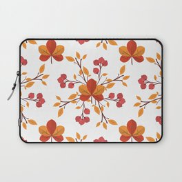 Orange and Red Autumn Leaves with Berries v4 Laptop Sleeve