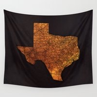 texas Wall Tapestries featuring Texas by Taylor Wilson Graphics