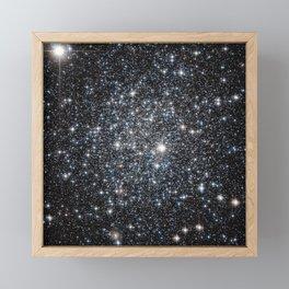 Stars : subtle black blue gold Framed Mini Art Print