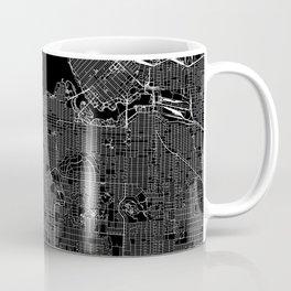 Vancouver Black Map Coffee Mug