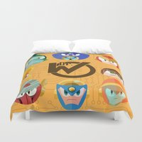 mega man Duvet Covers featuring Mega Man 2 by Jaime Ugarte