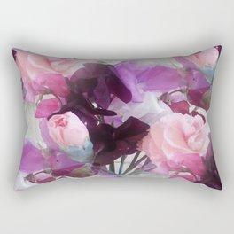 Sweet Peas & Carnations. Rectangular Pillow
