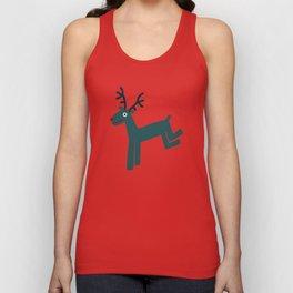 Reindeer-Teal Unisex Tank Top