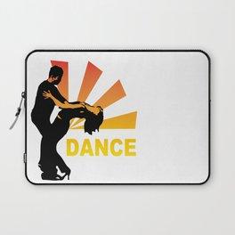 dancing couple silhouette - brazilian zouk Laptop Sleeve