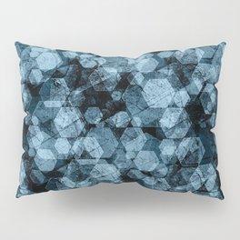 Blue hexagons. Kaleidoscope Pillow Sham