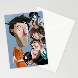 Personajes freaklances Stationery Cards