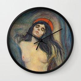 Madonna by Edvard Munch Wall Clock