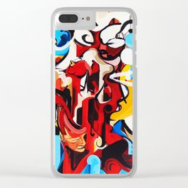 Expressive Abstract People Music Composition painting Clear iPhone Case