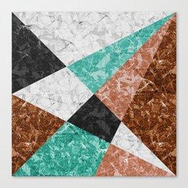 Marble Geometric Background G434 Canvas Print