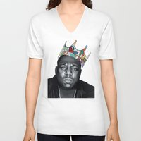 notorious big V-neck T-shirts featuring Notorious by Jared Yamahata