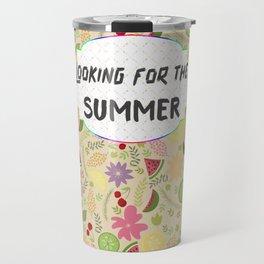 Looking for the SUMMER Fruits Flowers Sunshine Travel Mug