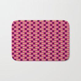 Brick (Pink, Brown, and Black) Bath Mat