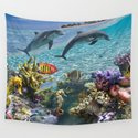 Coral Reef and Dolphins by erikakai