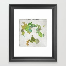 Final Fantasy VI - World of Balance Typographic Map Framed Art Print