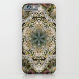 Beautiful white gum blossom mandala iPhone Case