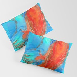 Alcohol ink and gold - Incline Pillow Sham