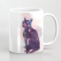 egyptian Mugs featuring Egyptian cat  by Vita♥G