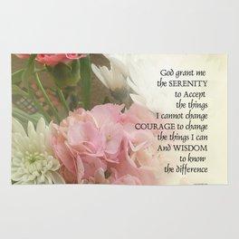 Serenity Prayer Bouquet Rug