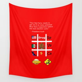Red Party Wall Tapestry