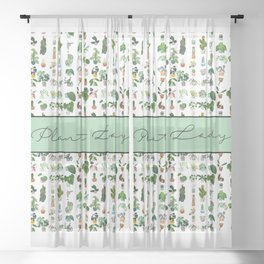 Plant Lady Confetti  Sheer Curtain