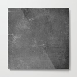 Gray and White School Chalk Board Metal Print