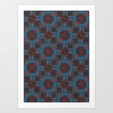 Red and blue Geometric Art Print