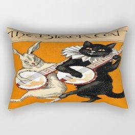 The Black Cat & White Rabbit Rectangular Pillow
