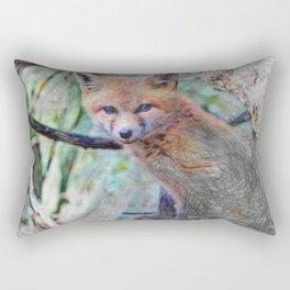 Artistic Animal Fox Baby Rectangular Pillow