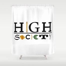 High Society Logo2 Shower Curtain