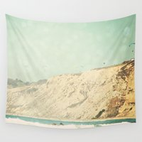west coast Wall Tapestries featuring West Coast 3 by Sylvia C