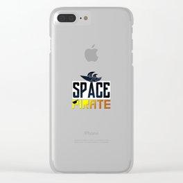 Space Pirate Clear iPhone Case