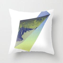 Triangle Mountains Throw Pillow